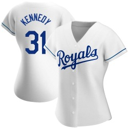 Ian Kennedy Kansas City Royals Women's Authentic Home Jersey - White