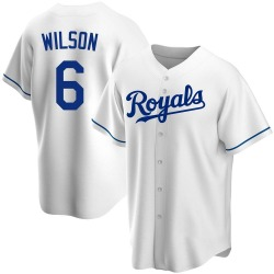 Willie Wilson Kansas City Royals Youth Replica Home Jersey - White