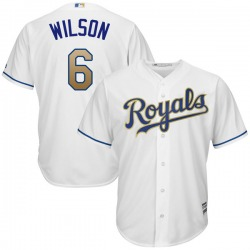 Willie Wilson Kansas City Royals Youth Replica Majestic Cool Base 2017 Home Jersey - White